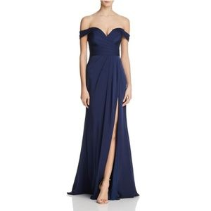 Faviana Couture Off Shoulder Gown